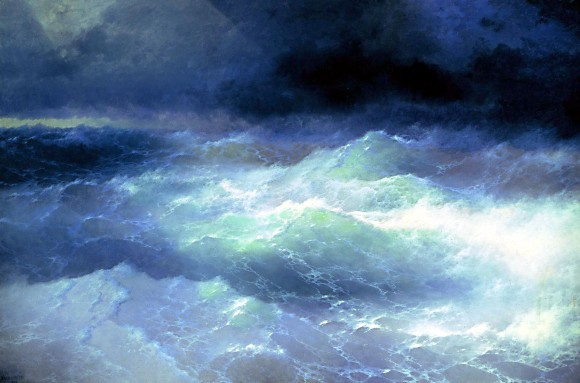 Storm sturm waves wellen Ayvaz sredy voln 580x383 Storm in Art   Sturm in der Kunst Turner